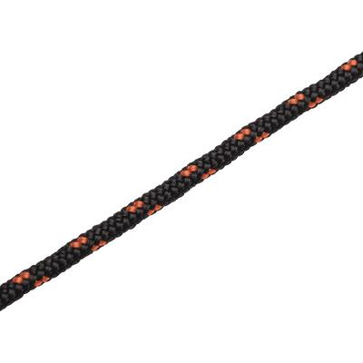 Treccia in polipropilene nero/arancio con segnalino