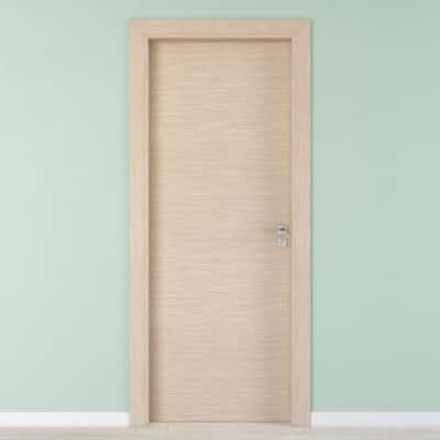 Porta per hotel battente Radisson oak rovere sbiancato 80 x H 210 cm sx