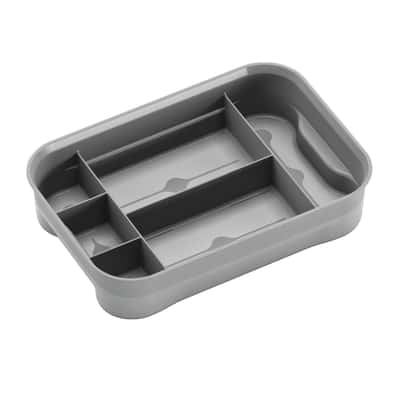 Vassoio contenitore T Box XXS L 23,5 x P 16 x H 5,5 cm grigio