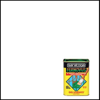 Smalto per ferro antiruggine Saratoga Fernovus bianco satinato 0,75 L