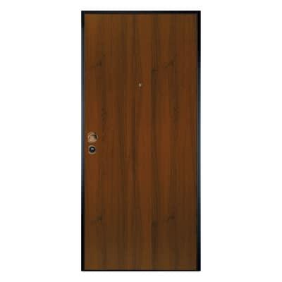 Porta blindata Leopard noce L 90 x H 210 cm sx