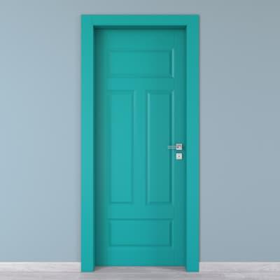 Porta da interno battente Coconut Groove azzurro 60 x H 210 cm sx