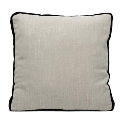 Cuscino grande Zara lino fascia nero 60 x 60 cm