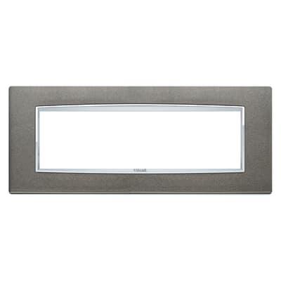 Placca 7 moduli Vimar Eikon Classic titanio metal