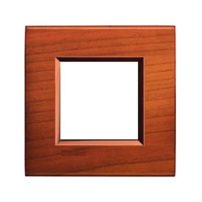 Placca 2 moduli BTicino Livinglight ciliegio