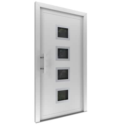 portoncino d'ingresso PVC Medium bianco L 90 x H 210 dx