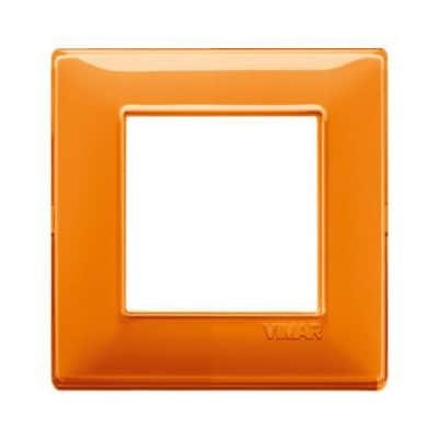 Placca 2 moduli Vimar Plana arancio
