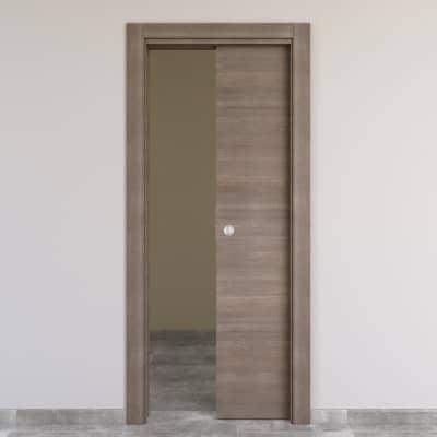 Porta da interno scorrevole Stylish grigio 80 x H 210 cm reversibile
