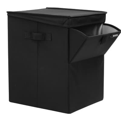 Portabiancheria stackable laundry box nero 35 l prezzi e for Portabiancheria leroy merlin