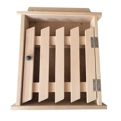 Bacheca porta chiavi Cancello Chiaro 6 posti rovere 24 x 5 x 29 cm