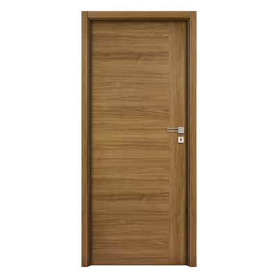 Porta da interno battente Petra Teak 70 x H 210 cm reversibile