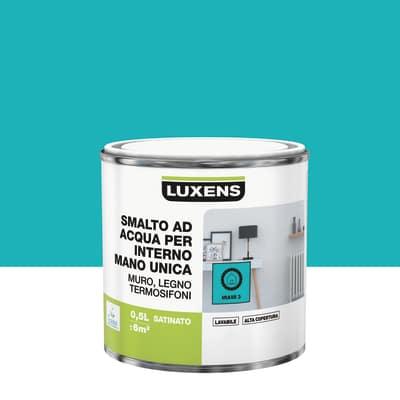 Smalto manounica Luxens all'acqua Blu Miami 3 satinato 0.5 L