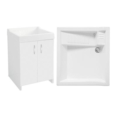 Mobile lavatoio Axis bianco L 60 x P  50 x H 86 cm