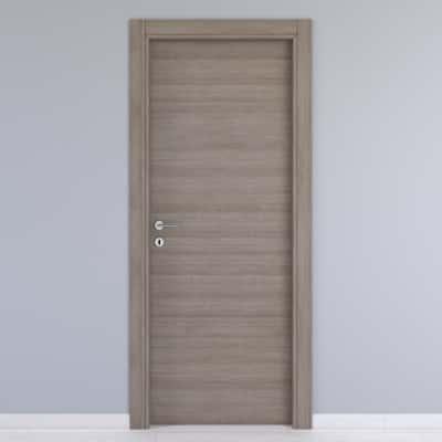 Porta da interno battente One gray cenere 60 x H 210 cm reversibile