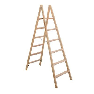 Scala doppia Legno Facal 6 gradini, per lavori fino a 2,9 m