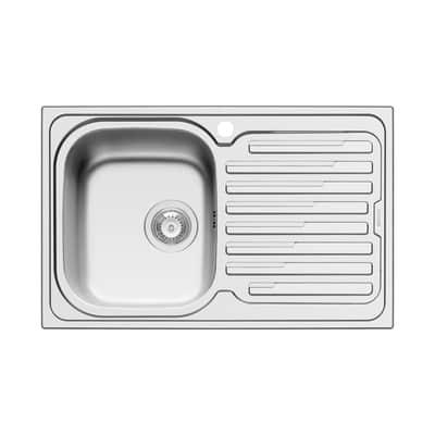 Lavello incasso Amaltia L 79 x P  50 cm 1 vasca SX + gocciolatoio