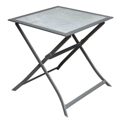 Tavolo pieghevole Itaca,  70 x 70 cm antracite