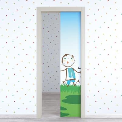 Porta da interno scorrevole Junior 80 x H 210 cm reversibile