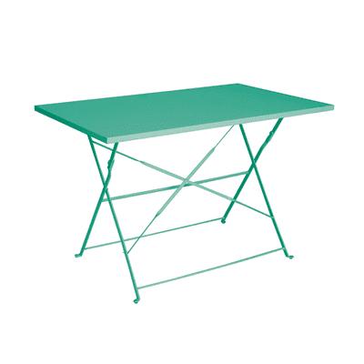 Tavolo pieghevole Color, 110 x 70 cm verde smeraldo