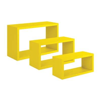 Set 3 rettangoli Spaceo giallo, sp 1,8 cm