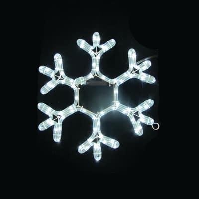 Decorazione luminosa Fiocco di neve 84 Led bianca fredda L 40 x H 37 cm
