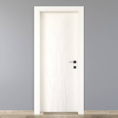 Porta da interno battente Blades white bianco 90 x H 210 cm sx