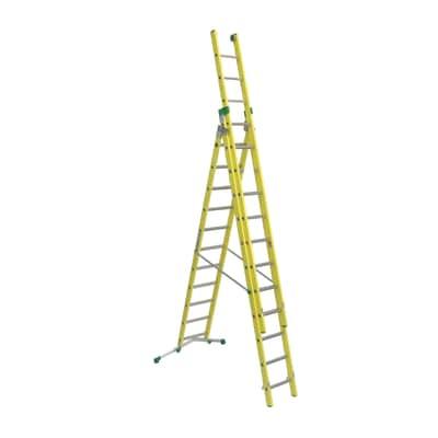Scala sfilo alluminio Facal 11+12+12 gradini, per lavori fino a 9,9 m
