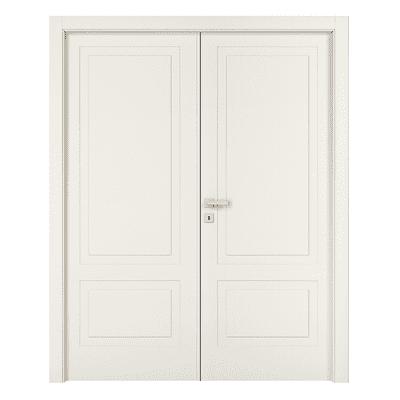 Porta da interno battente Shibuya 2 Ante Laccato Bianco 180 x H 210 cm dx
