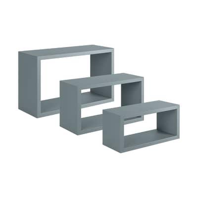 Set 3 rettangoli Spaceo grigio, sp 1,8 cm