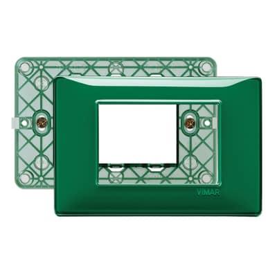 Placca 3 moduli Vimar Plana smeraldo