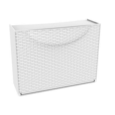 Scarpiera Harmony Box rattan 1 anta a ribalta bianco