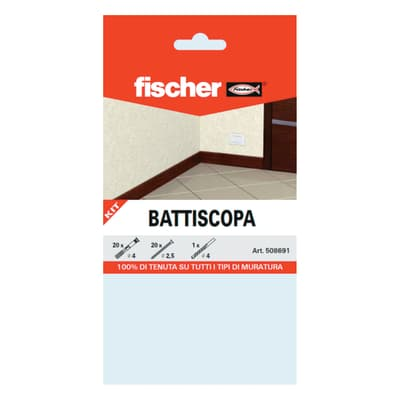 Kit di fissaggio Fischer Battiscopa 20 pz. ø 4 x 35  mm con vite