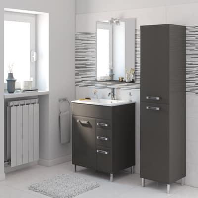 Mobile bagno Opale grigio antracite L 60 cm