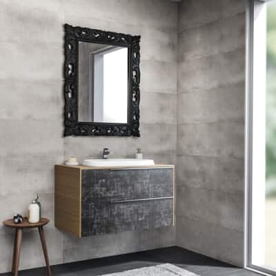 Mobile bagno Base Decor acero L 85 cm