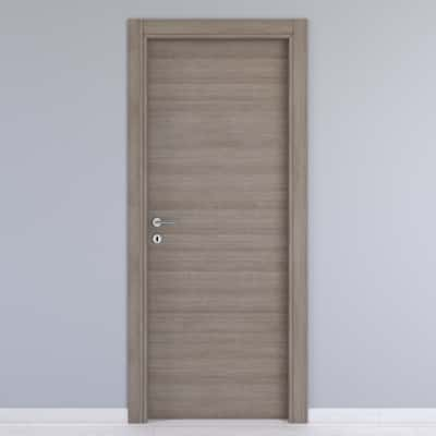 Porta da interno battente One gray cenere 70 x H 210 cm reversibile