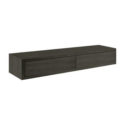Mensola con cassetto doppio Spaceo rovere scuro, sp 2,2 cm