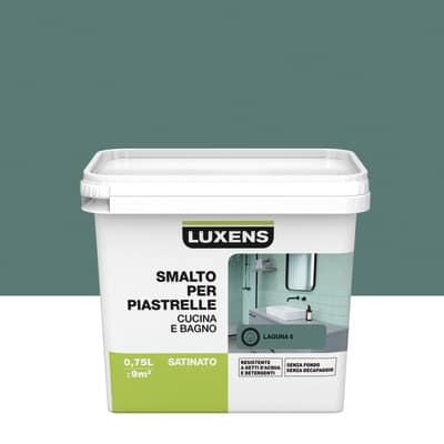 Smalto Per piastrelle Luxens Verde Laguna 5 satinato 0,75 L