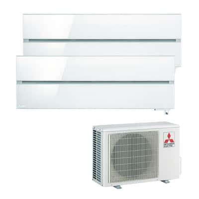 Climatizzatore fisso inverter dualsplit Mitsubishi MXZ-2D53VA + MSZ-LN35VGV + MSZ-LN35VGV Wi-Fi 9000 + 12000 BTU classe A+++ bianco
