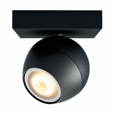 Faretto singolo Philips Hue nero