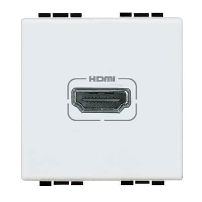 Presa HDMI BTicino Livinglight bianco