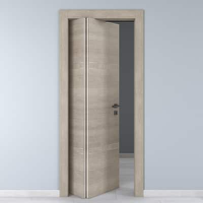 Porta da interno pieghevole asimmetrica Chasing rovere chiaro 70 x H 210 cm sx