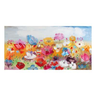 Quadro dipinto a mano fiori misti 60x120 prezzi e offerte for Quadri moderni leroy merlin