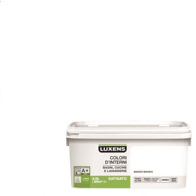Smalto murale Bianco Bianco 2,5 L Luxens