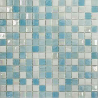 Mosaico soft sky 32 7 x 32 7 cm blu bianco azzurro prezzi e offerte online leroy merlin for Piastrelle mosaico leroy merlin
