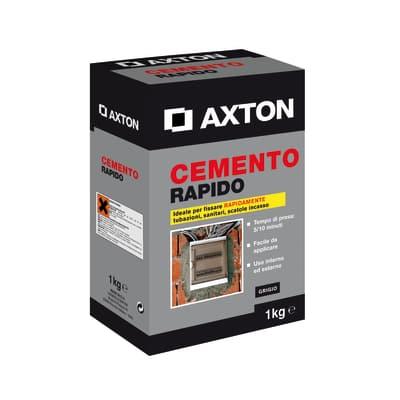 Cemento rapido Axton grigio 1 kg