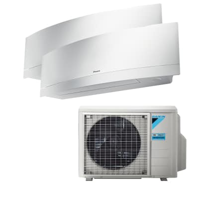 Climatizzatore fisso inverter dualsplit Emura 2MXM40M/FTXJ25MW+FTXJ35MW 9000 + 12000 BTU classe A++