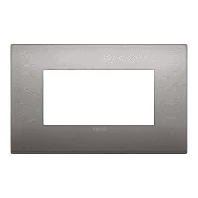 Placca VIMAR Arké 4 moduli nichel nero