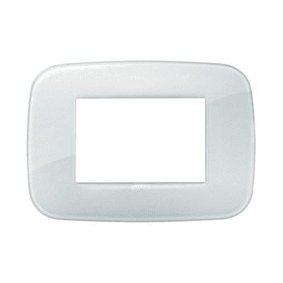 Placca VIMAR Arké 3 moduli reflex ghiaccio
