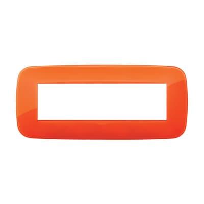 Placca VIMAR Arké 7 moduli reflex orange