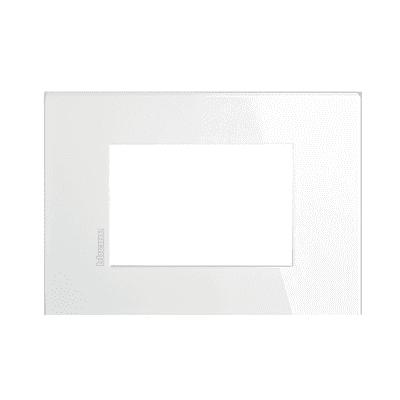 Placca BTICINO Axolute-Air 3 moduli bianco